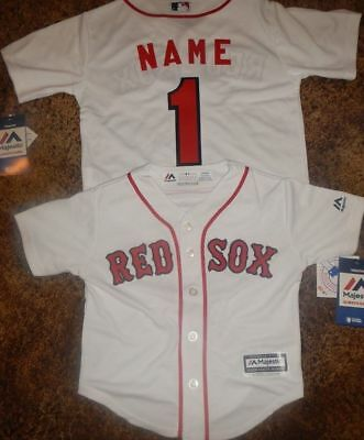 Boston Red Sox  MLB Majestic Kids 4/7 Replica Jersey add any name and number
