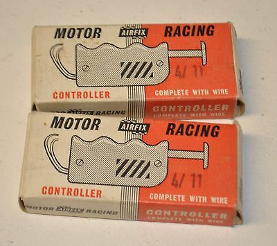 Airfix Motor Racing Controller BOXED Vintage rare early throttle 4/11 RED x 2