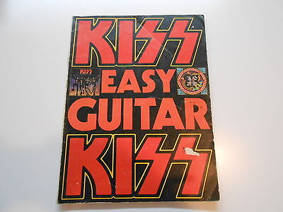 KISS ** EASY GUITAR ** SongBook ** 1977' Almo Publications