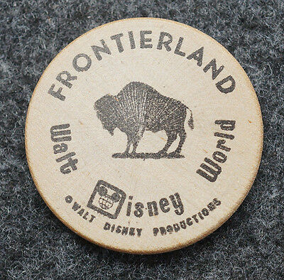 Vintage Wooden Nickels Frontierland Walt Disney World