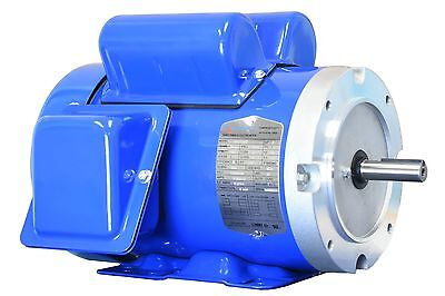 3/4 hp electric motor 56c 1 phase 115/230 volt 3600 rpm enclosed