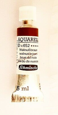 Schmincke 5Ml Watercolour Tube Walnut Brown Series 2 Artist Quality
