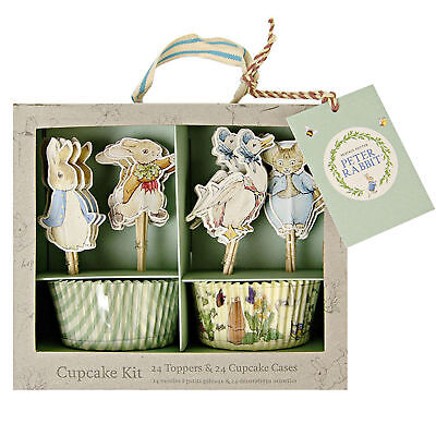 Beatrix Potter Peter Rabbit Easter Party Cupcake Cases & Toppers Kit - 24 Pack