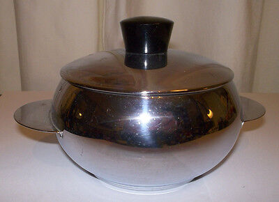 Vintage Deco Style Chrome Sugar Bowl? With Lid