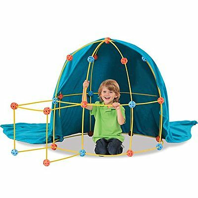 Discovery Kids 69-piece Flexible Construction Fort  Free Two Day Shipping