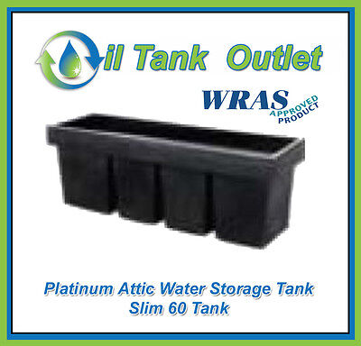Attic Water Storage Tank Slim 60 - WRAS Approved