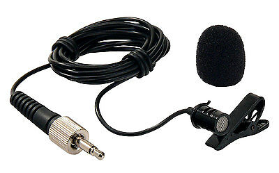 Pro Lavalier Condenser Clip On Tie Microphone Hands Free Lapel Mic Stage Micro