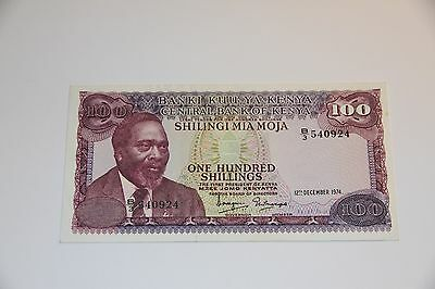KENYA  100  SHILLINGS 1974  PICK # 10c  XF