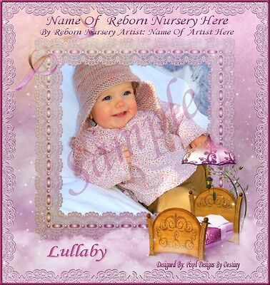 ~~Lullaby Girl Reborn Baby Auction Template With Free Logo~~  Doua
