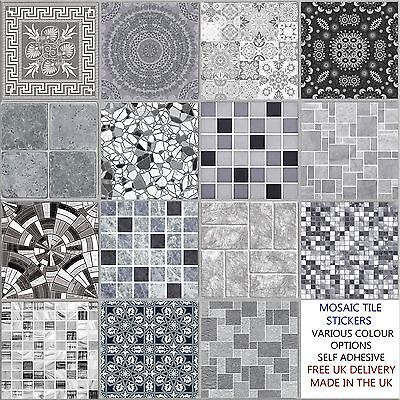 Grey 6 Inch Tile Stickers,Various design, Decal Transfer for Kitchen Bathroom