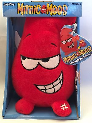 Mimic Mees Red Valentines Naughty Mee Plush Repeats Everything You Say NEW