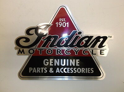 """Wholesale Lot of 10 7"""" x 7"""" """"Indian Motorcycle"""" Triangler Stickers"""