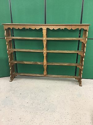 Solid Oak Arts And Craft Style Dresser Rack