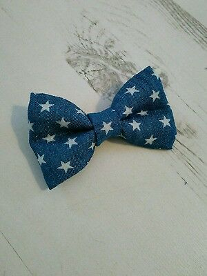 Baby Boys & Kids Handmade Blue Star Dickie Bow Tie for Wedding, Christening