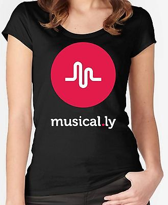 Musically Musical.ly Graphic design T Shirt Top Small To 2XL Ladies