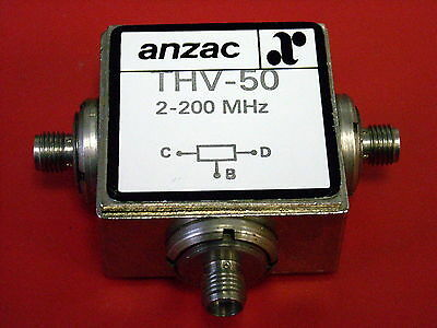 Anzac THV-50  Two-Way Power Divider   50 Ohms / 2 - 200 MHz  (4 available)