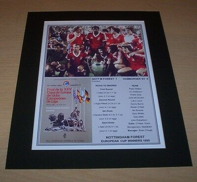 Nottingham Forest - 1980 European Cup Winners Print Mounted To A4