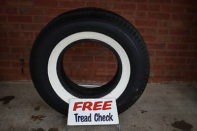 Vintage Metal Tire Stand w/ Firestone Deluxe Champion Gum Dipped Whitewall Tire