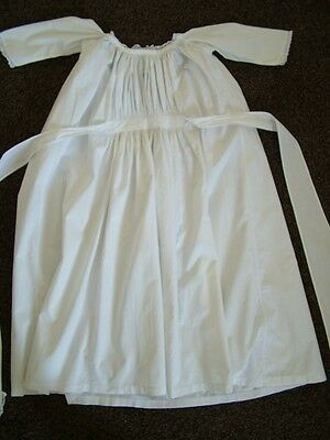 Vintage original antique Edwardian white cotton christening dress gown
