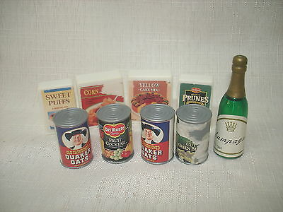 Barbie Furniture Mattel Vintage Canned Boxed Play Food