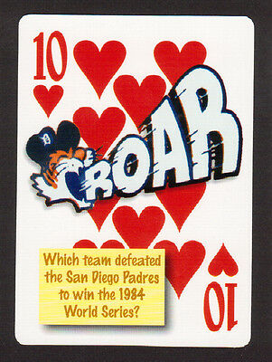 Detroit Tigers 1984 World Series Baseball Champs Neat Playing Card #4Y8