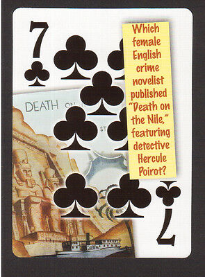 Agatha Christie Author Death on the Nile Hercule Poirot Neat Playing Card #7Y3