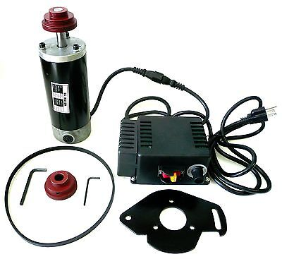 1/2 HP Variable Speed DC Drive Kit: Motor Control Pulleys Belt 750-5415 RPM New
