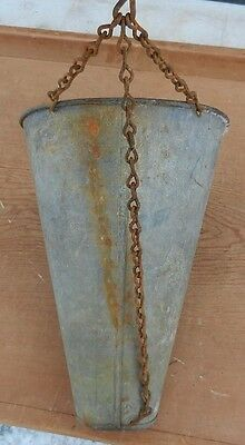 Vintage Galvanized Tin Double Open Ended Hanging Basket - Dry Plants - $10 OFF!!