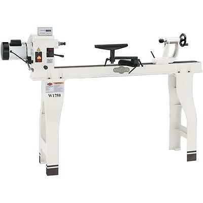 "SHOP FOX® W1758 16"" X 46"" Wood Lathe with Stand and DRO - Free Shipping"
