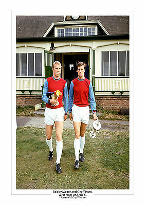 Bobby Moore Geoff Hurst West Ham United A4 Print Photo World Cup 1966 England