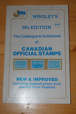 Weeda Wrigley's Catalogue & Guidebook of Canadian Official Stamps, 9th ed.