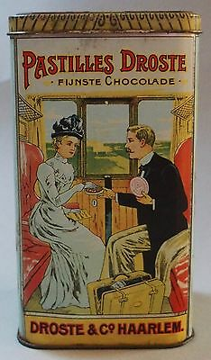 Near Mint Droste's Cacao Advertising Tin Beautiful Graphics And Color & It Shine
