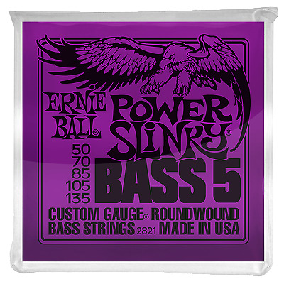 Ernie Ball 2821 POWER SLINKY 5-STRING NICKEL WOUND ELECTRIC BASS STRINGS