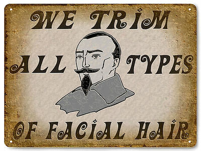 BARBER SHOP facial hair salon VINTAGE style metal SIGN wall display PLAQUE 569