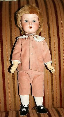 "Antique Armand Marseille AM 390 German Bisque Head 16"" Boy Doll"