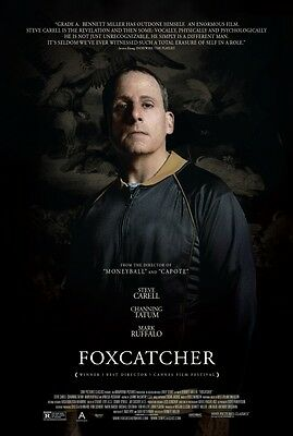 Foxcatcher, Steve Carell - Original 27X40 Double Sided Movie Poster
