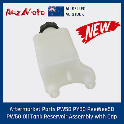 Aftermarket - For YAMAHA PW50 PY50 PeeWee Oil Tank Reservoir with Cap - White