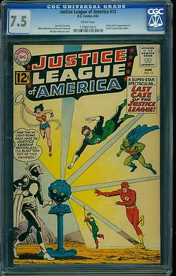 Justice League of America 12 CGC 7.5 Silver Age Key DC Comic L@@K IGKC