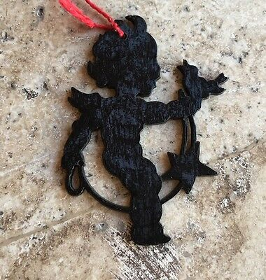 German Vintage Celluloid Black Cupid,Lasso,Bird Valentine Ornament Decoration