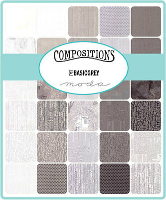 Patchwork/quilting Fabric Moda Charm Squares/packs - Compositions