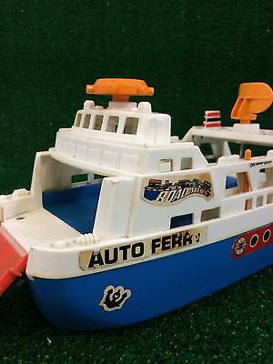 Vintage Tomy Sears Road Mates Auto Ferry Transporter Toy