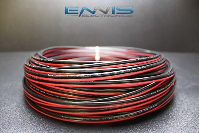 14 Gauge 100 Ft Red Black Zip Wire Awg Cable Power Stranded Copper Clad Ee