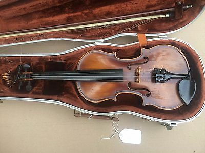 "Vintage Stradavarius Violin w/bow Germany 22"" J 1721"