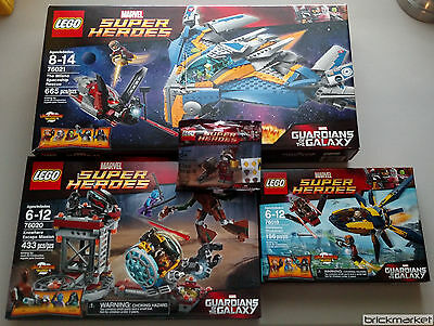 Lego Guardians of the Galaxy Original 4 Set Lot 76019 76020 76021 & Polybag NEW!