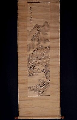 Very Long Old Chinese Scroll Hand Painting Landscape Marked ZhaiDaKun PM010