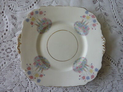 Colclough England Bone China Tab Handled Cake Or Biscuit Plate 1939+ Floral