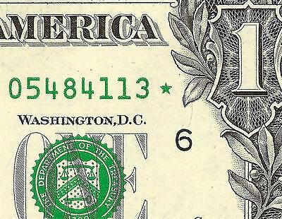 Unc 2009 $1 Dollar Bill Solid Overinked Star Error Note Us Currency Paper Money