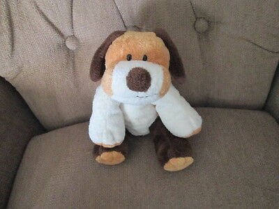 TY PLUFFIES Brown, Tan & white Puppy Dog Whiffer