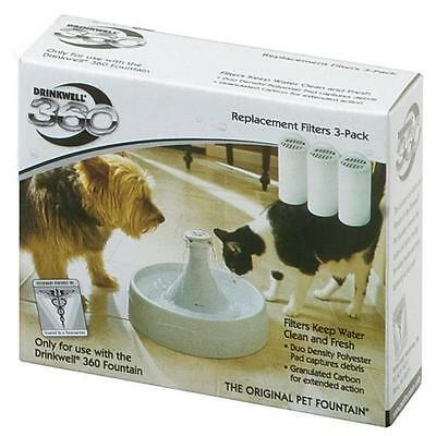 NEW Cats Drinkwell 360 Charcoal Filter 3pk Feline Accessories By Innotek