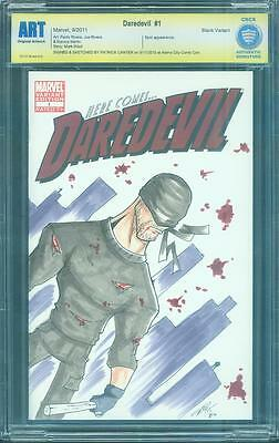 Daredevil 1 CBCS SS ART Top 1 Wraparound Original Charlie Cox Sketch up CGC 9.8